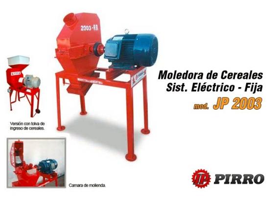 Moledora de cereales eléctrica fija Pirro JP 2003