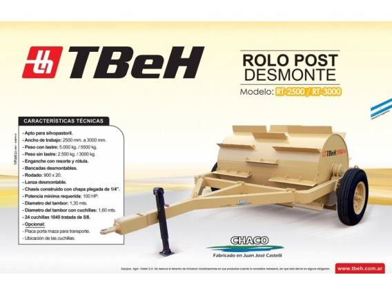 Rodillo TBeH RT 3000